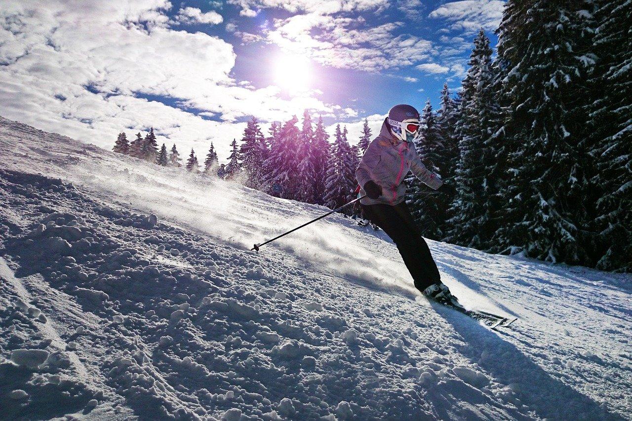narciarka na stoku